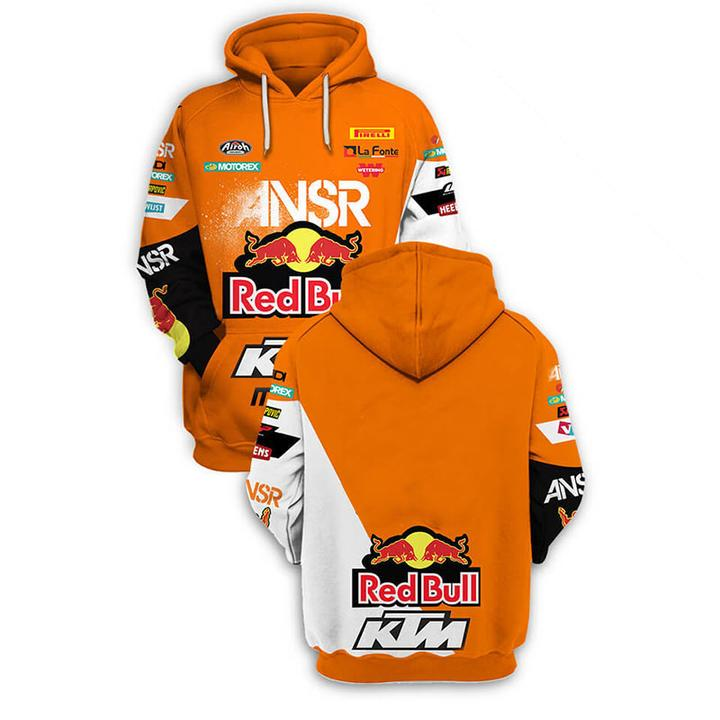 red bull answer racing ktm motorcycles full printing hoodie