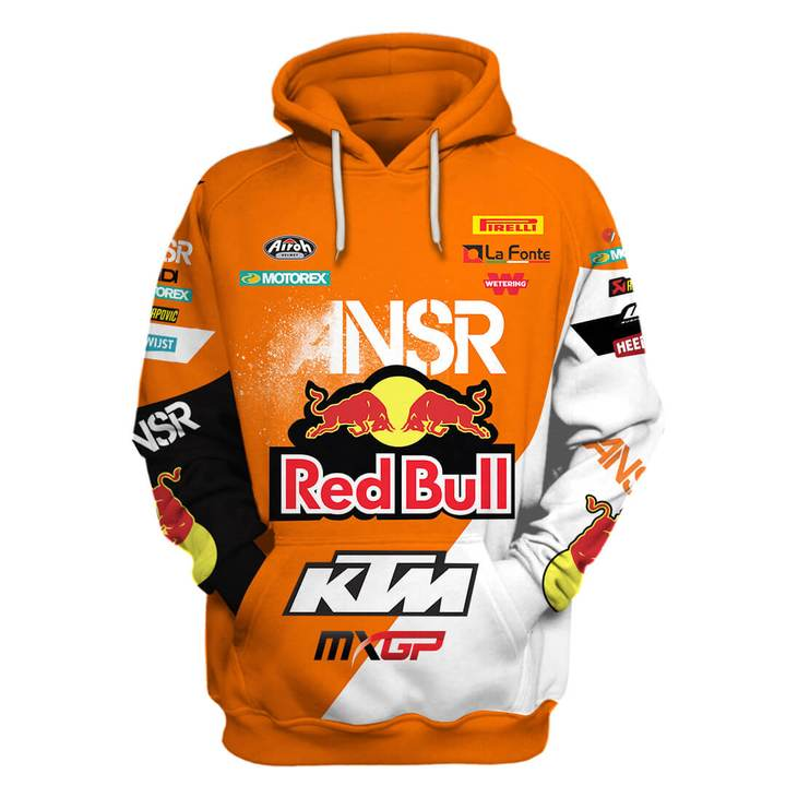 red bull answer racing ktm motorcycles full printing shirt 1