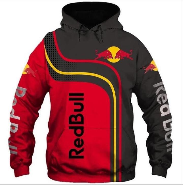 red bull energy drink racing full printing hoodie 1