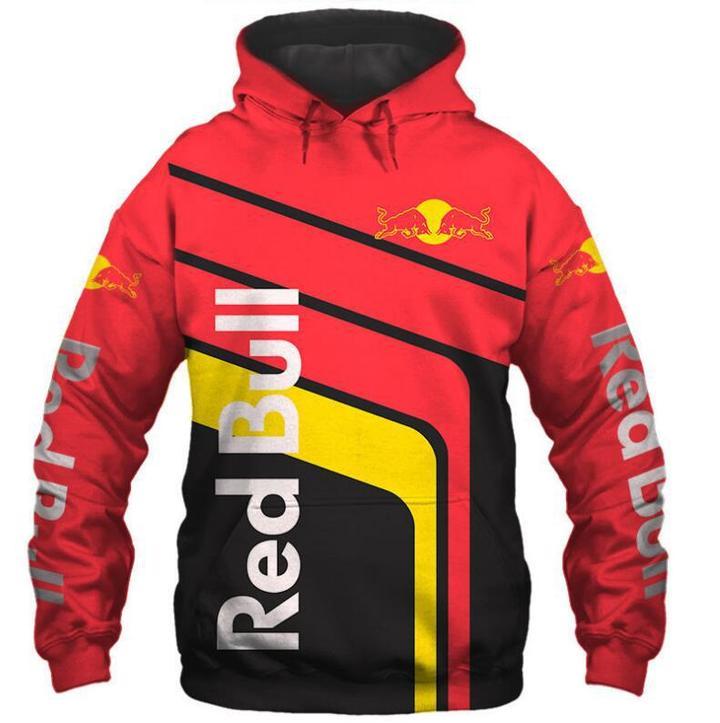 red bull energy drink sportmotorcycle full printing hoodie