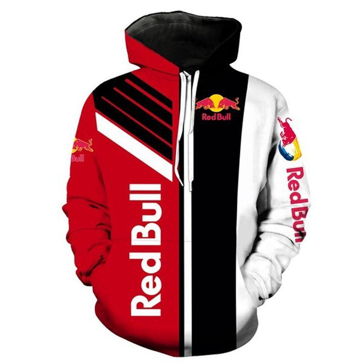redbull factory racing team full printing hoodie
