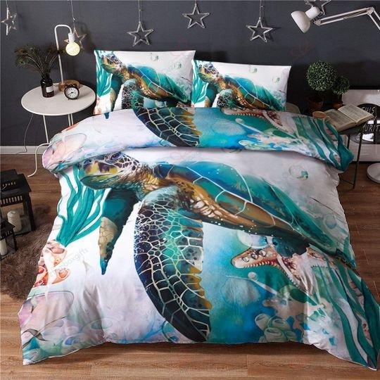 sea turtles bedding set 2
