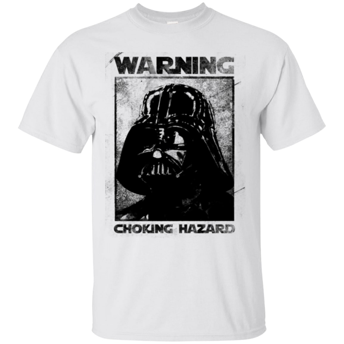 star wars darth vader warning choking hazard tshirt