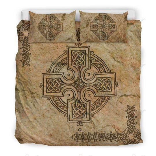 the celtic cross irish celtic symbols bedding set 3