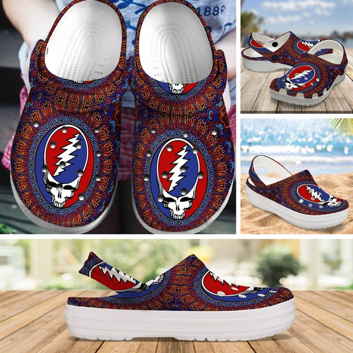 the grateful dead rock band crocs 1 - Copy