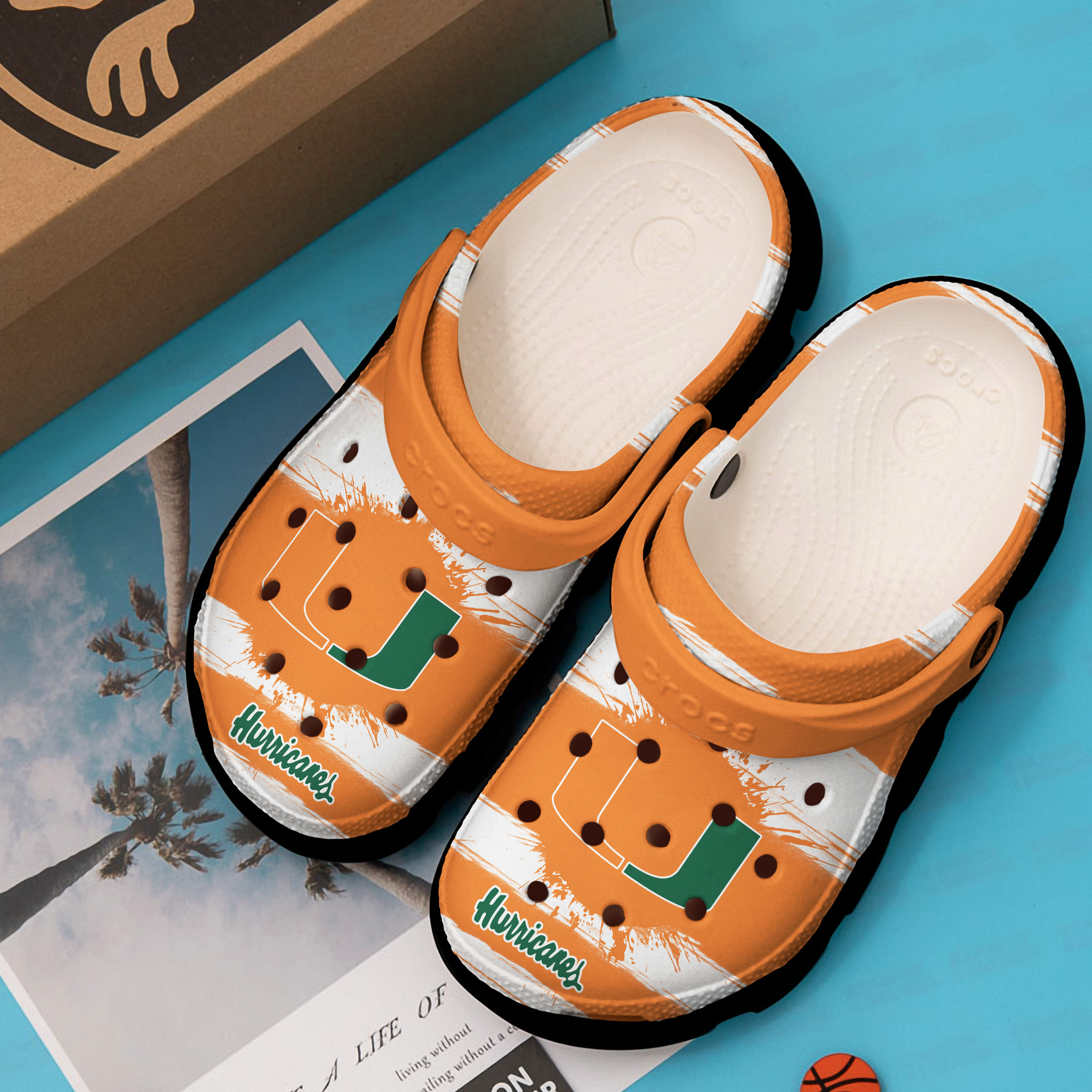 the miami hurricanes football team crocs 1