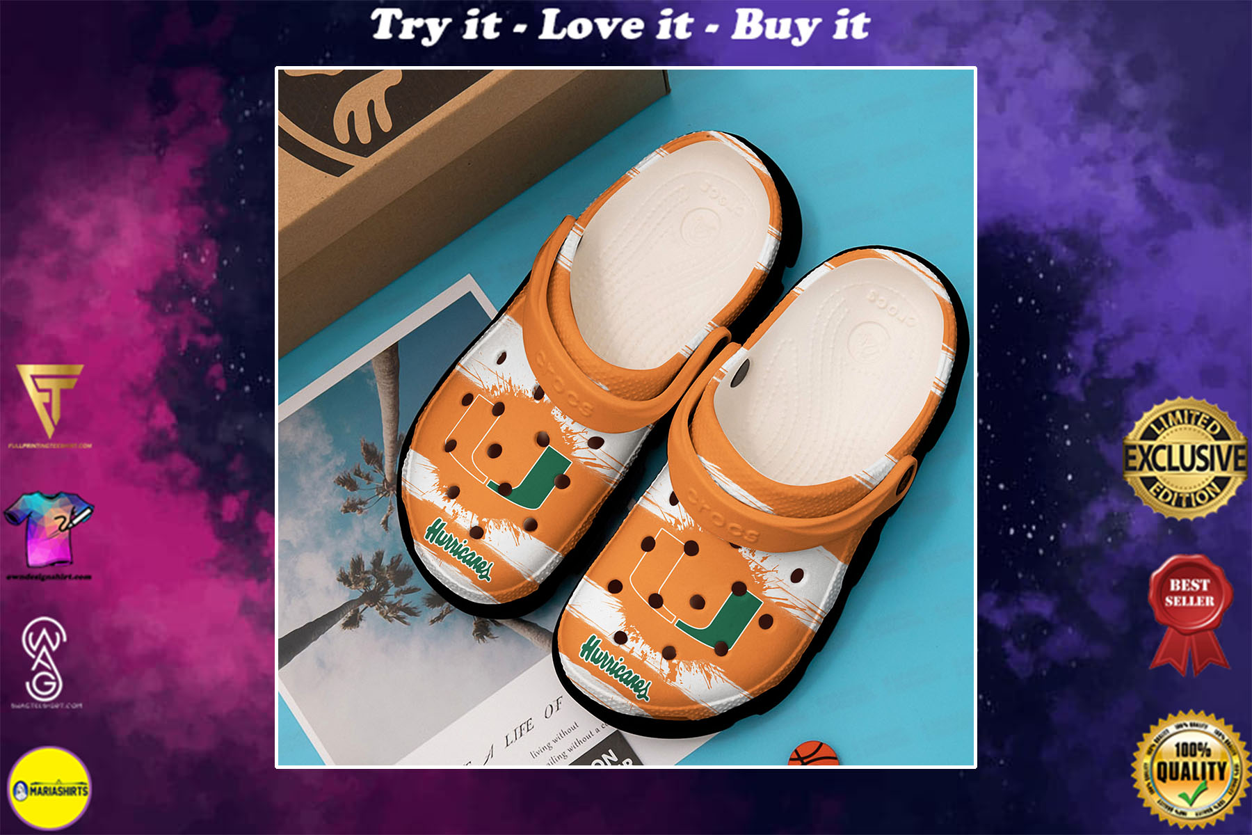 the miami hurricanes football team crocs - Copy