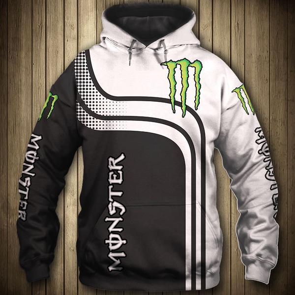 the monster energy symbol full printing hoodie