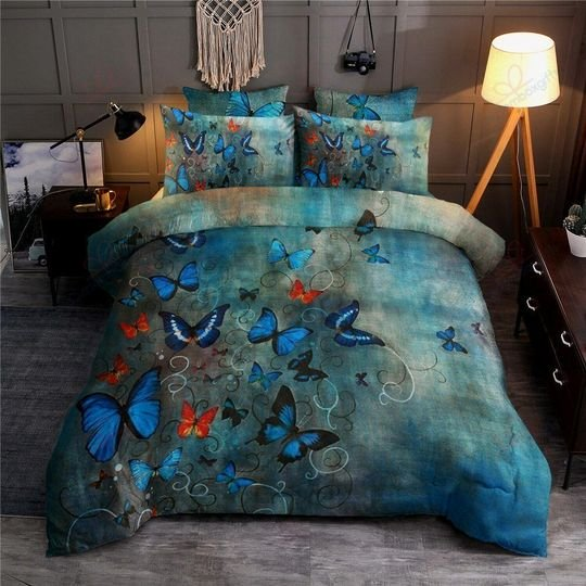 the night butterfly bedding set 4