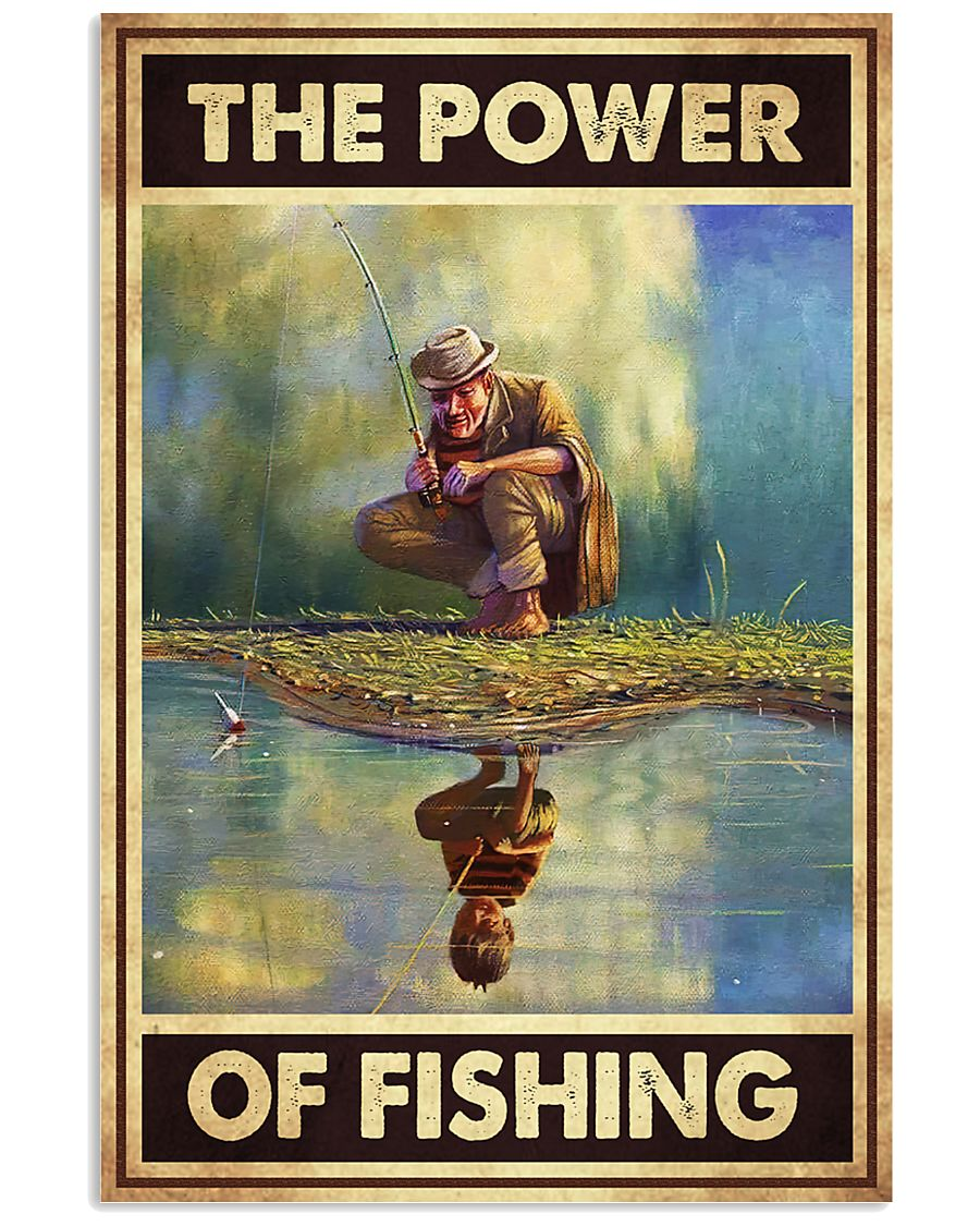 the power of fishing retro poster 2