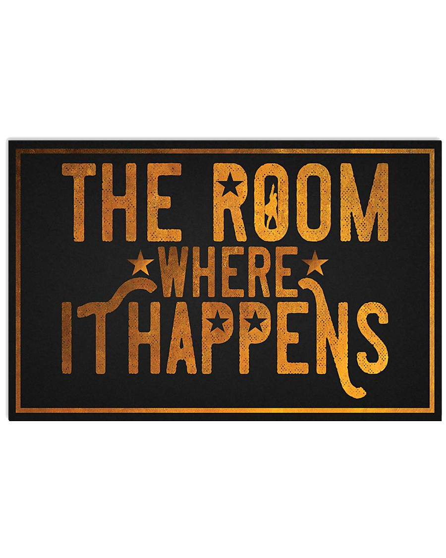 the room where it happens retro poster 2