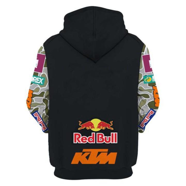 thor motorex red bull ktm mountain biking full printing hoodie 1