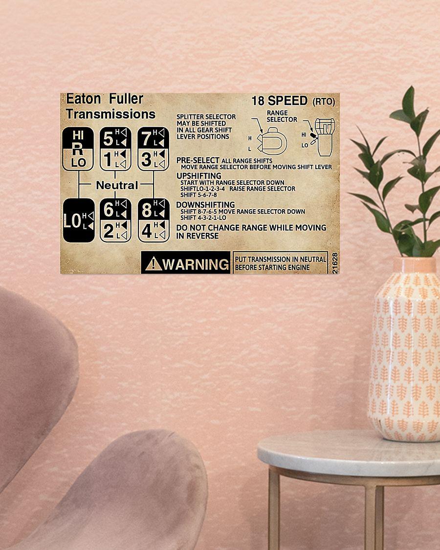 trucker warning information eaton fuller transmissions poster 3