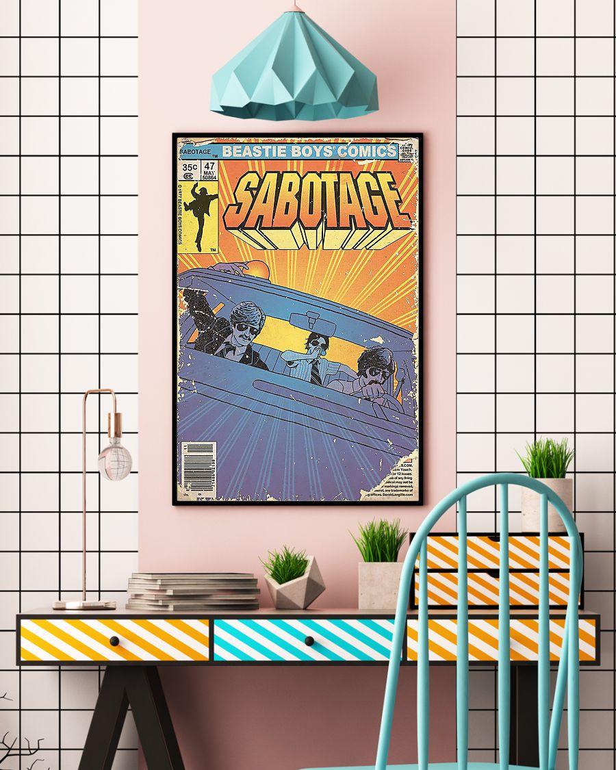 vintage beastie boys comics sabotage poster 3