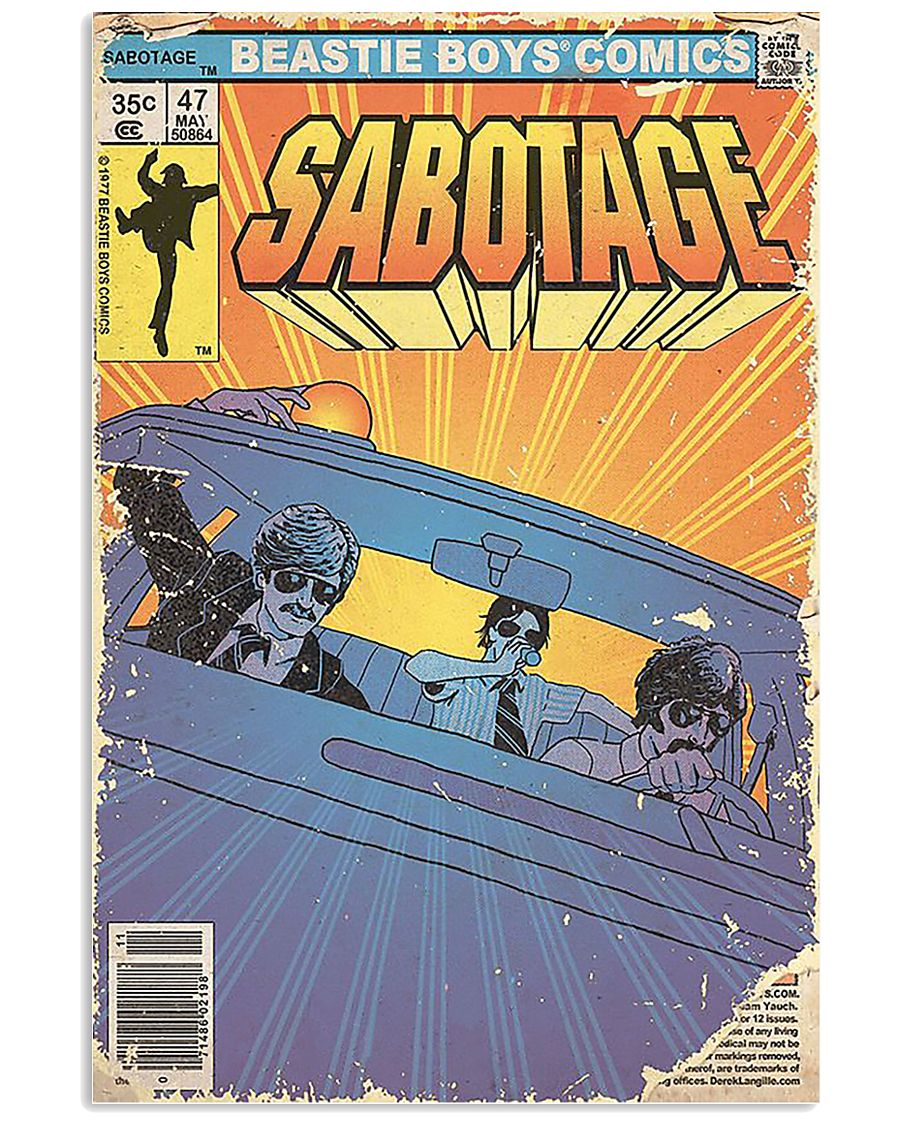 vintage beastie boys comics sabotage poster 4