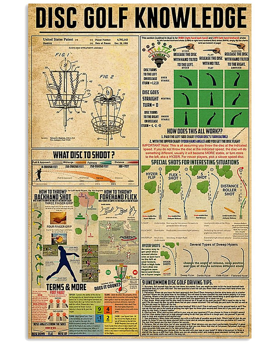 vintage disc golf knowledge poster 1