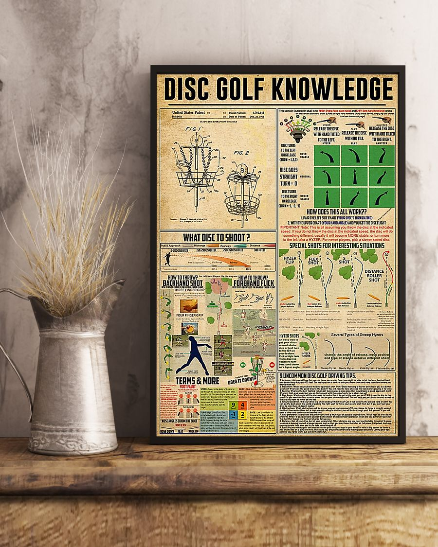 vintage disc golf knowledge poster 2