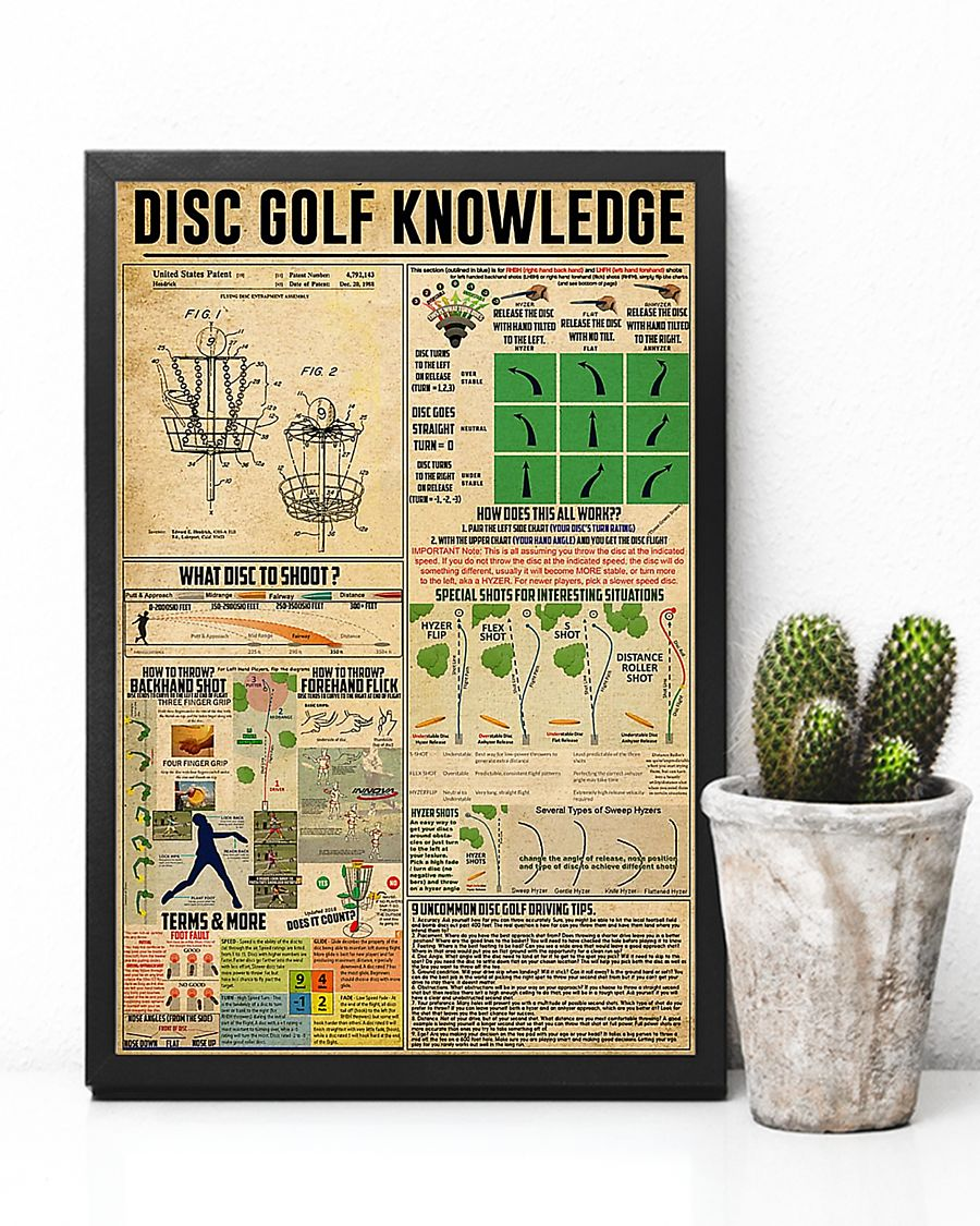 vintage disc golf knowledge poster 3