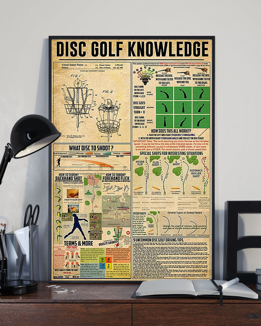 vintage disc golf knowledge poster 4
