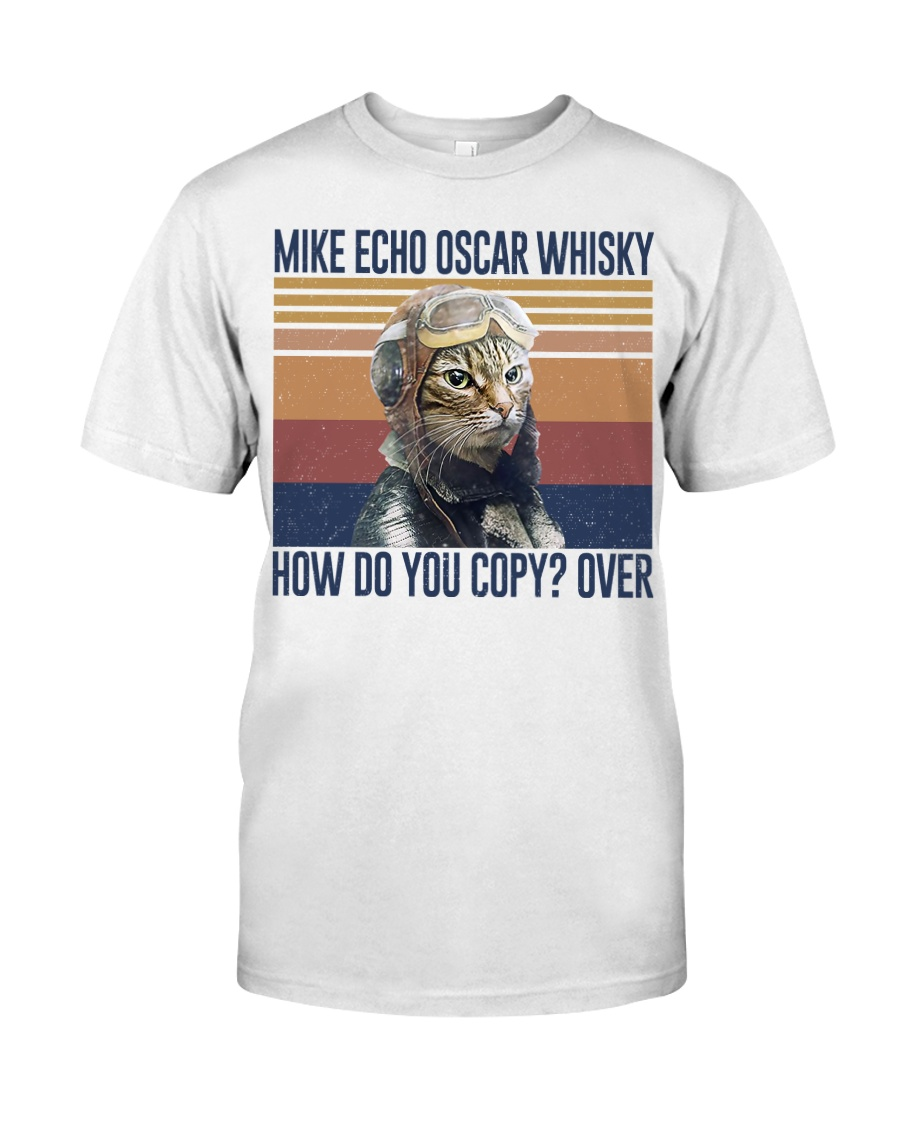 vintage flying cat mike echo oscar whisky how do you copy over tshirt