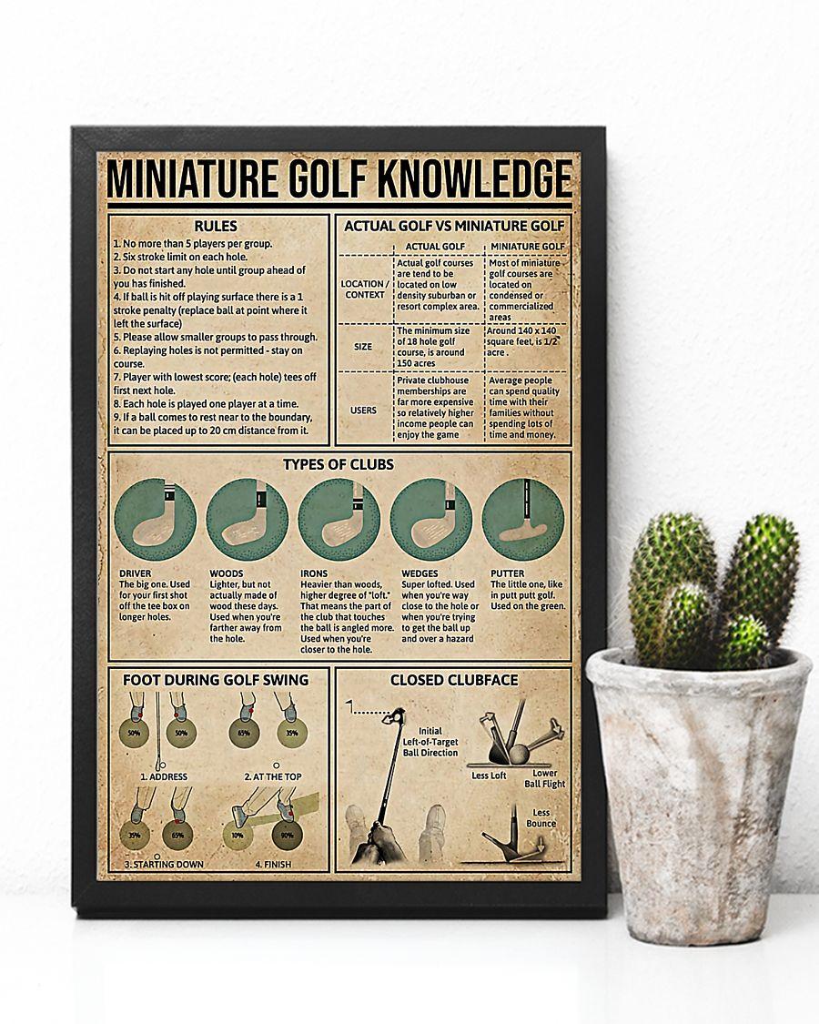 vintage miniature golf knowledge poster 2