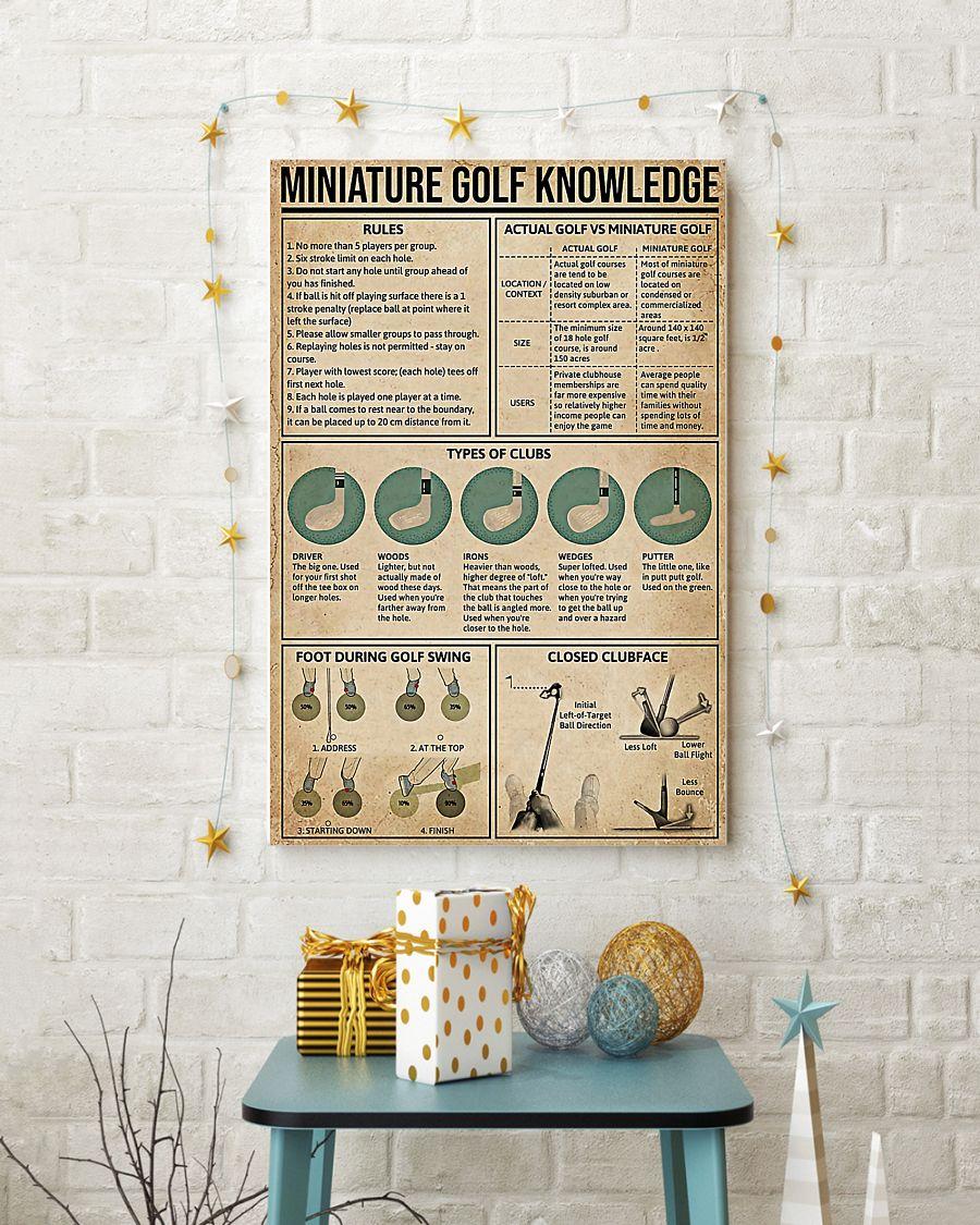 vintage miniature golf knowledge poster 4