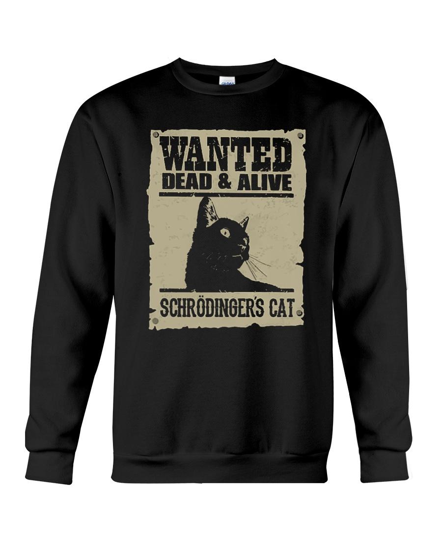 wanted dead and alive schroedingers cat sweatshirt