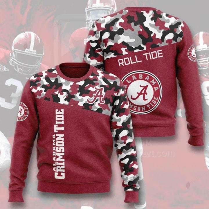 alabama crimson tide football camo full printing ugly sweater 4
