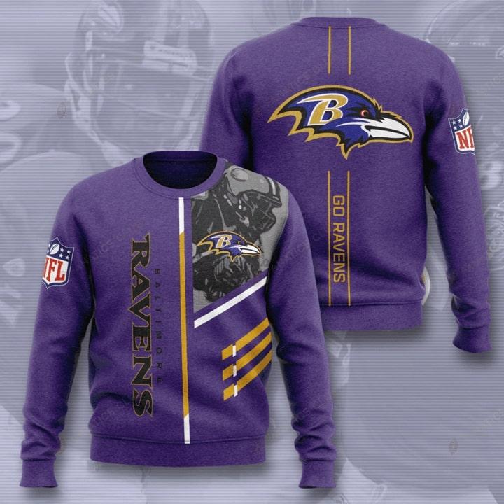 baltimore ravens go ravens full printing ugly sweater 3