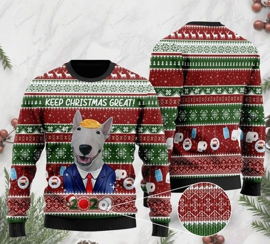 bull terrier keep christmas great full printing ugly sweater 2