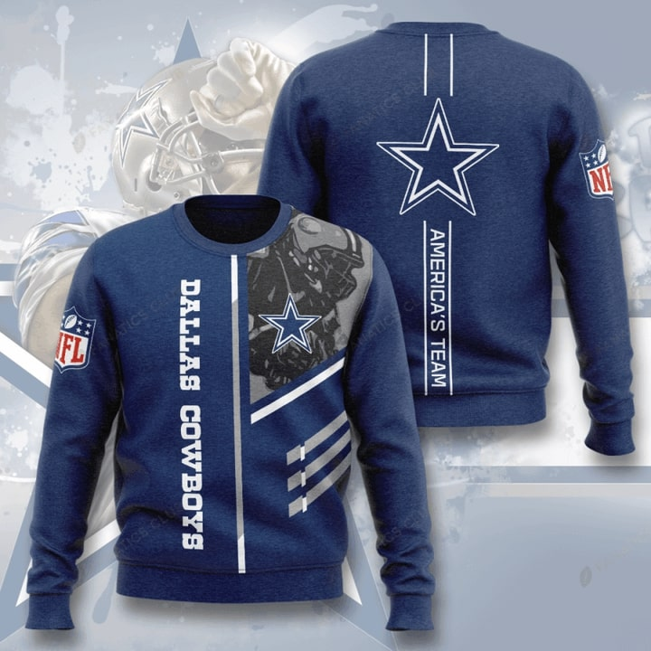 dallas cowboys america's team full printing ugly sweater 3