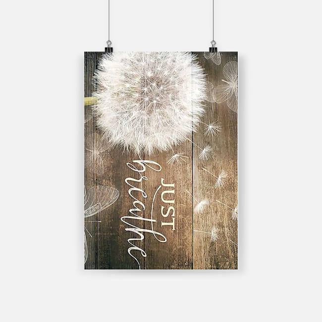 dandelion just breathe poster 1