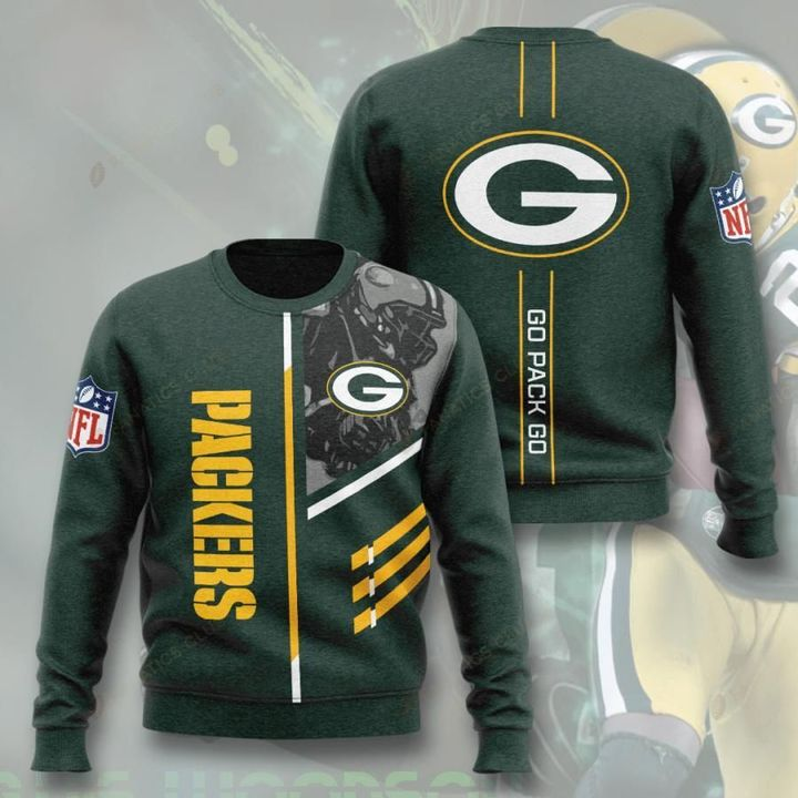 green bay packers go pack go full printing ugly sweater 4