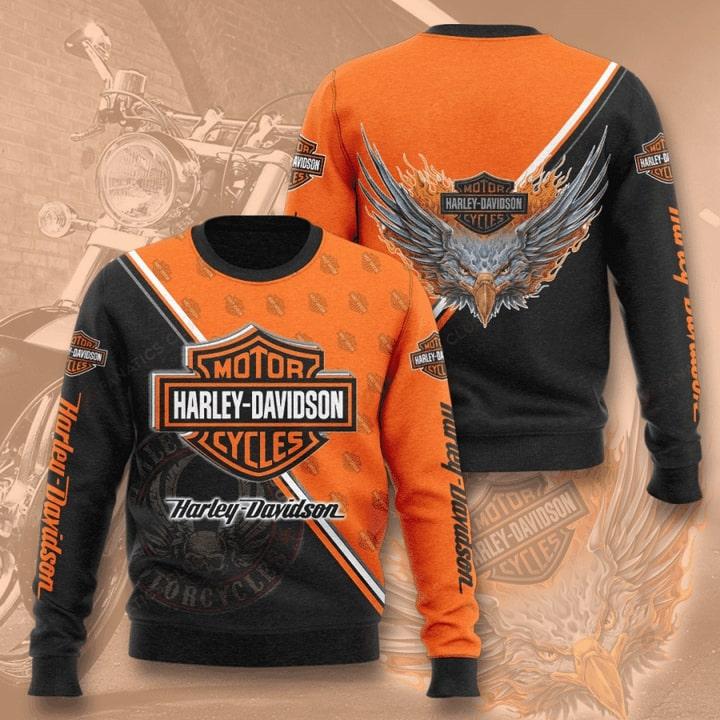 harley-davidson motorcycles full printing ugly sweater 4