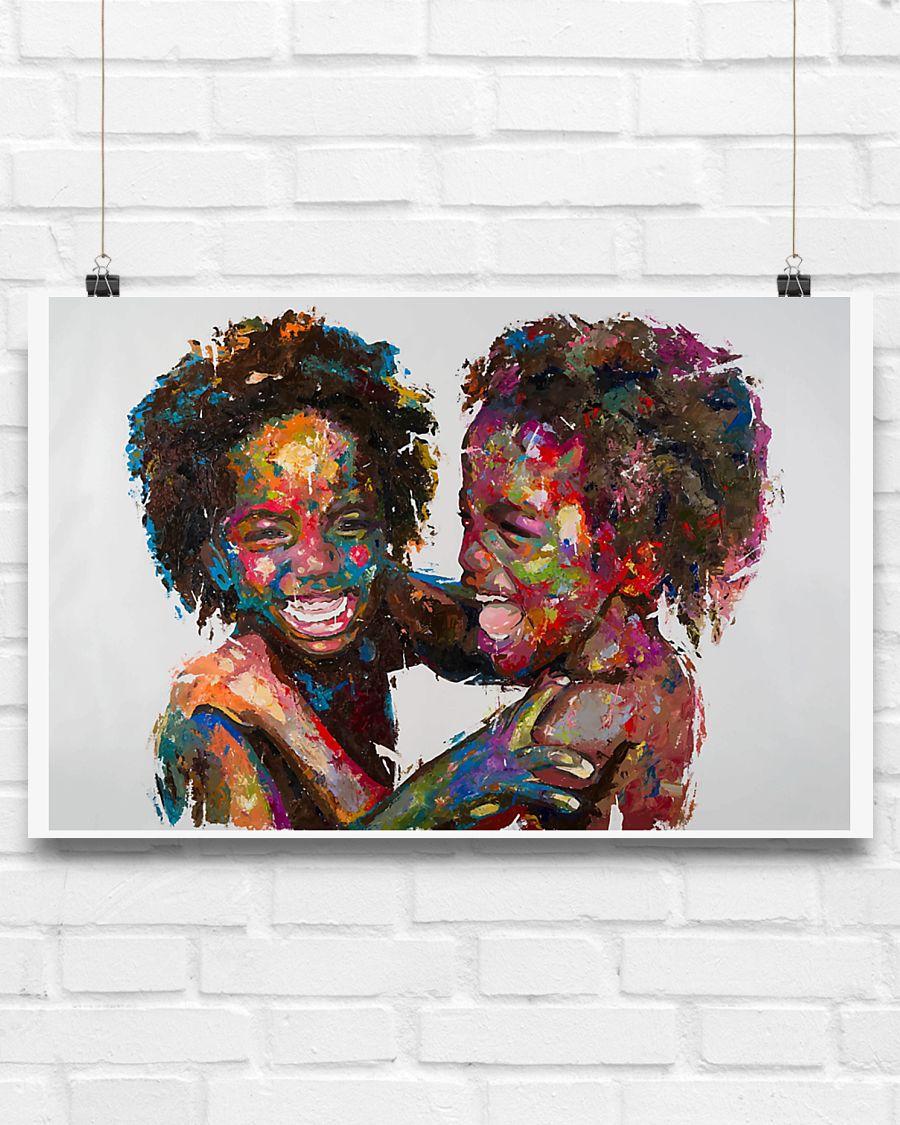 innocent kids african american children poster 3