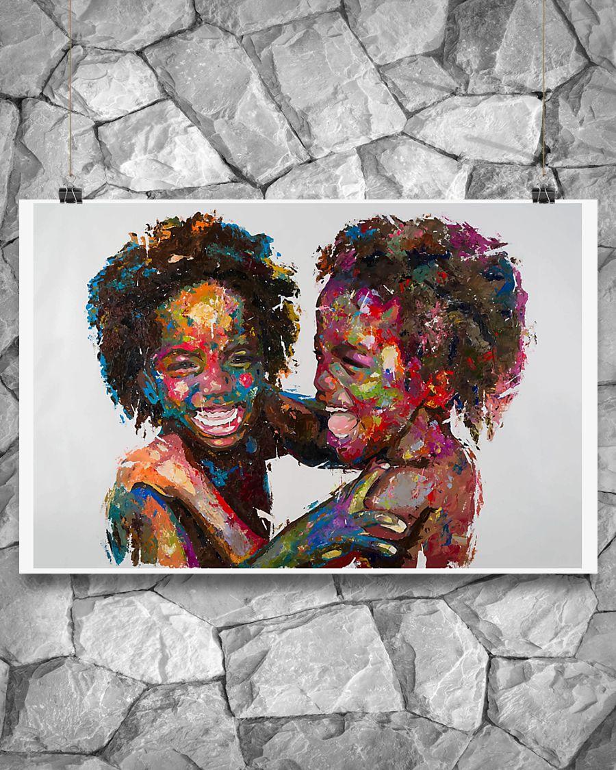 innocent kids african american children poster 4