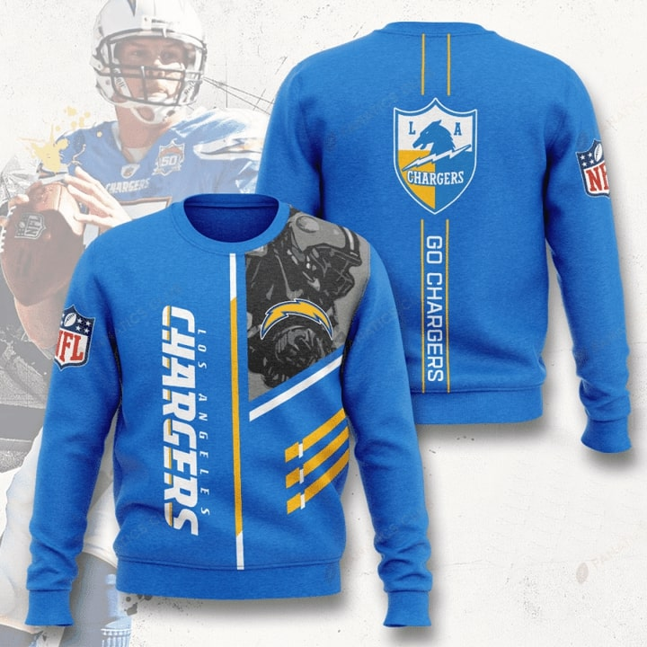 los angeles chargers go chargers full printing ugly sweater 5
