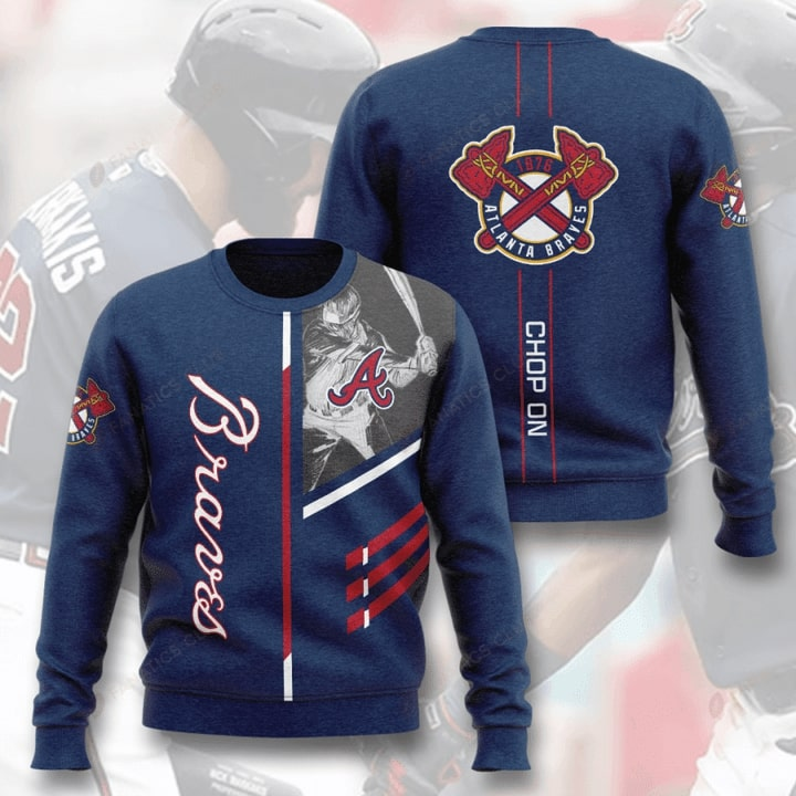 major league baseball atlanta braves chop on full printing ugly sweater 3