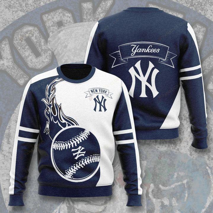 major league baseball new york yankees full printing ugly sweater 2