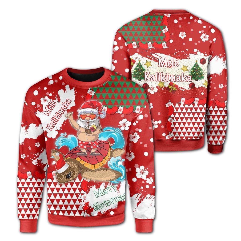 mele kalikimaka hawaiian full printing ugly sweater 2