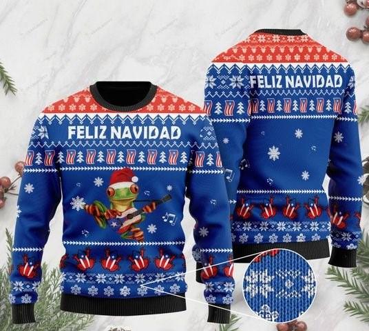 merry christmas puerto rico feliz navidad ugly sweater 2