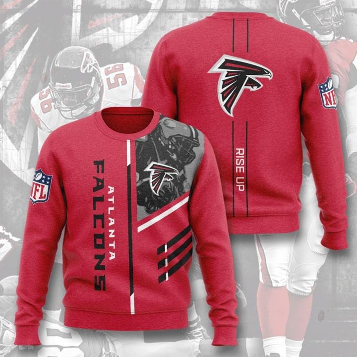 national football league atlanta falcons rise up full printing ugly sweater 3