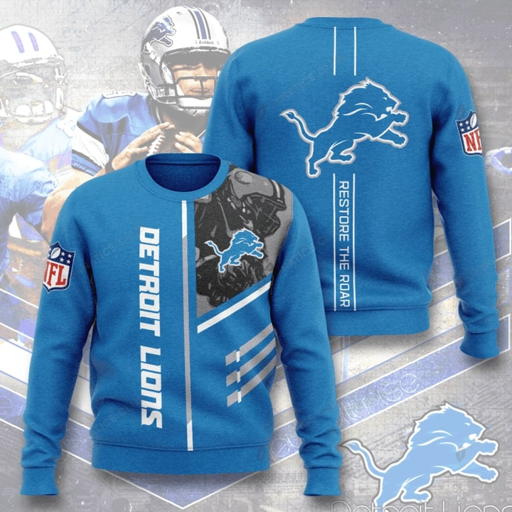 national football league detroit lions restore the roar full printing ugly sweater 4