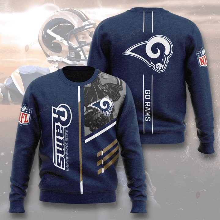 national football league los angeles rams go rams full printing ugly sweater 2