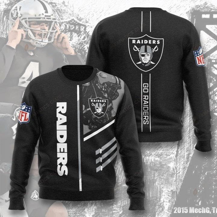 national football league oakland raiders go raiders full printing ugly sweater 2
