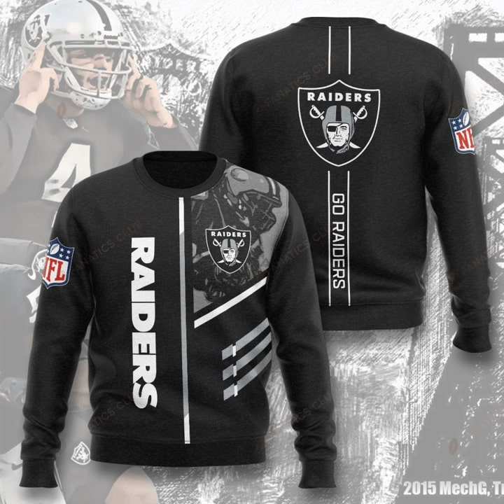 national football league oakland raiders go raiders full printing ugly sweater 4