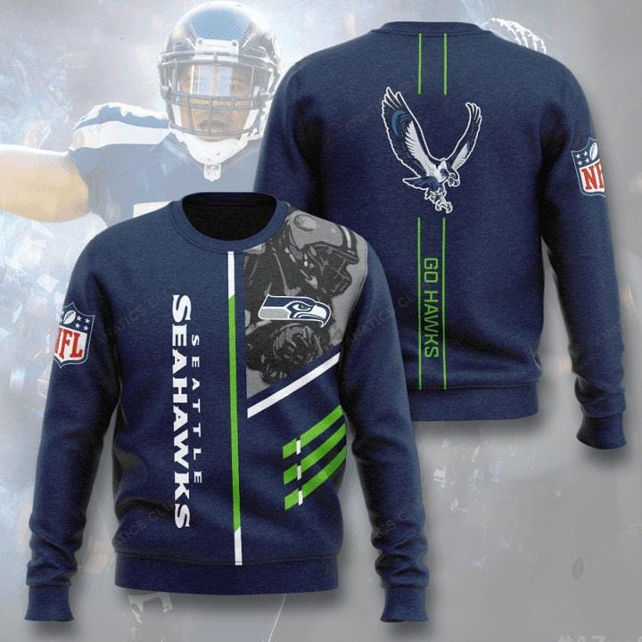 national football league seattle seahawks go hawks full printing ugly sweater 2