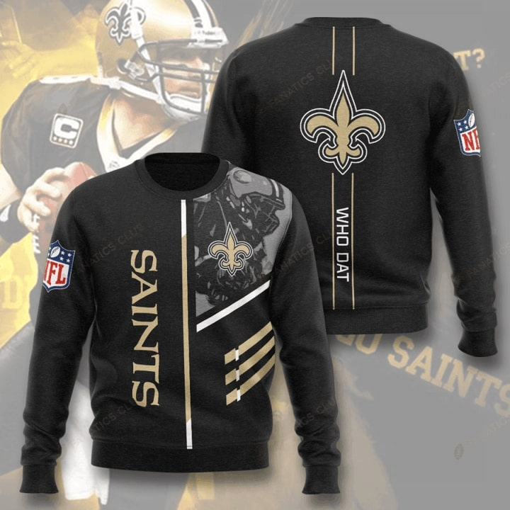 new orleans saints who dat full printing ugly sweater 2