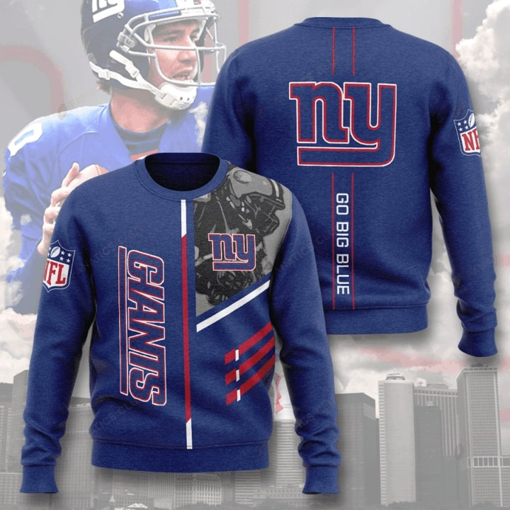 nfl new york giants go big blue full printing ugly sweater 2