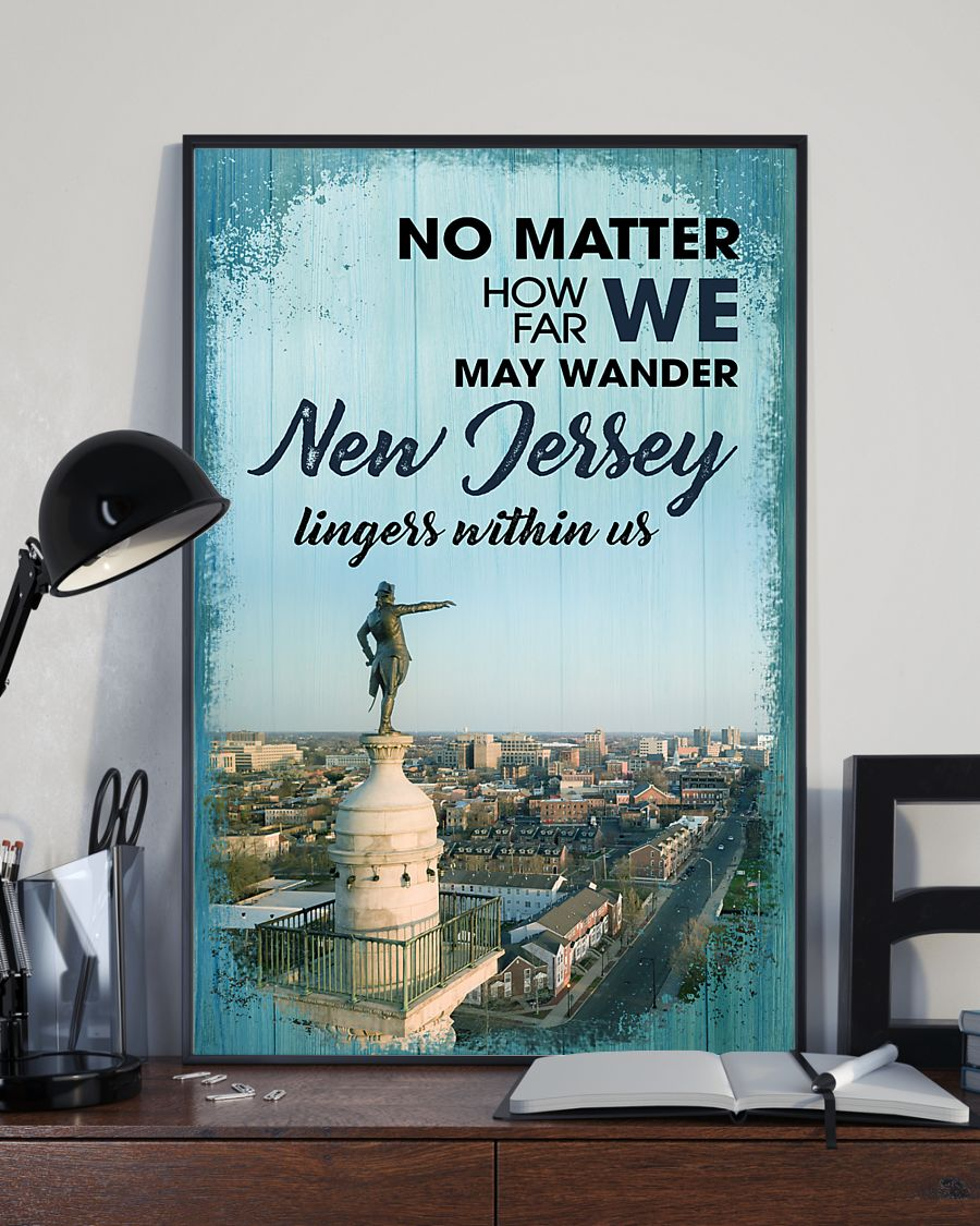 no matter how far we may wander new jersey lingers within us poster 2